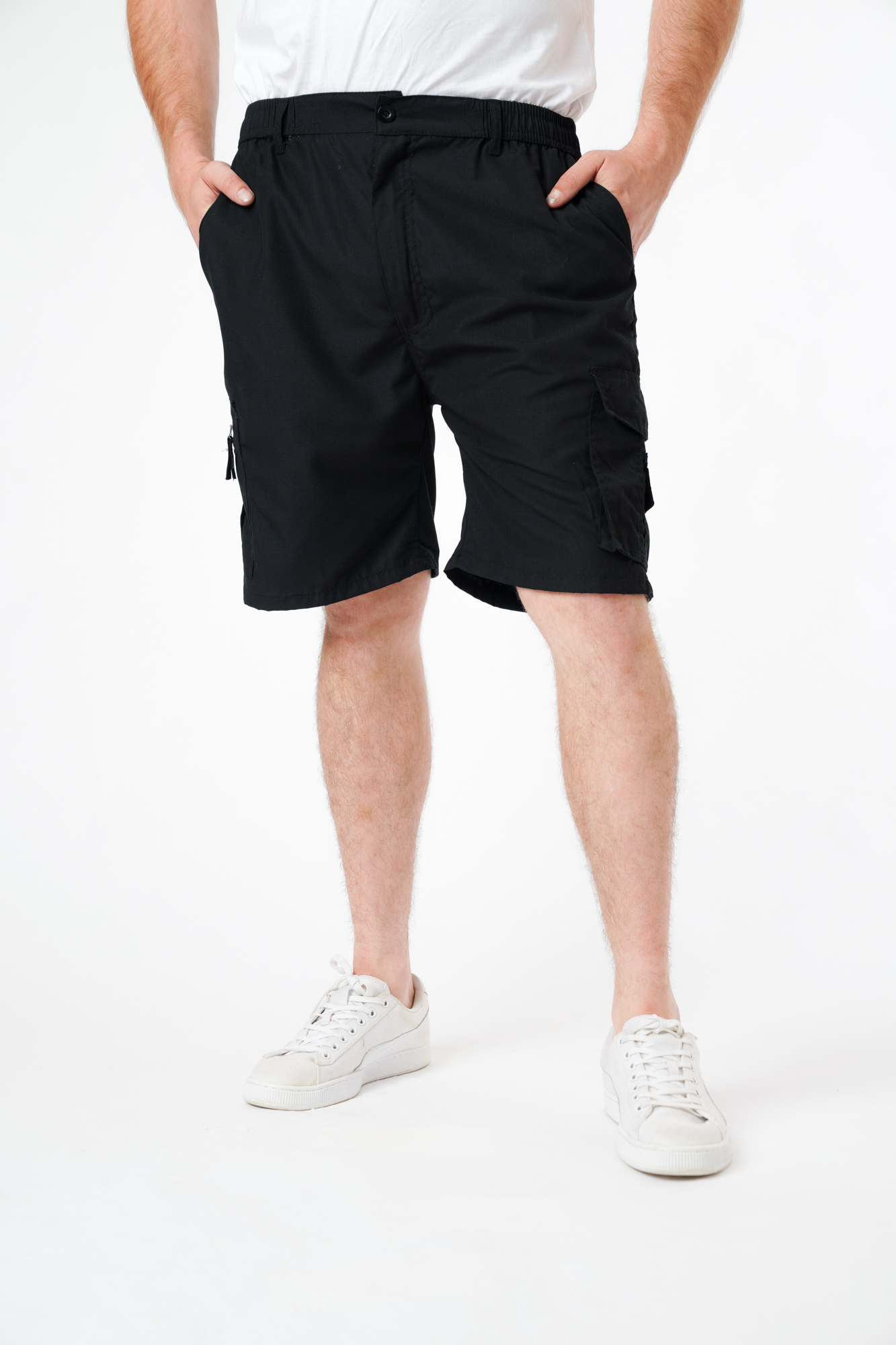 Plain Knee Length Shorts