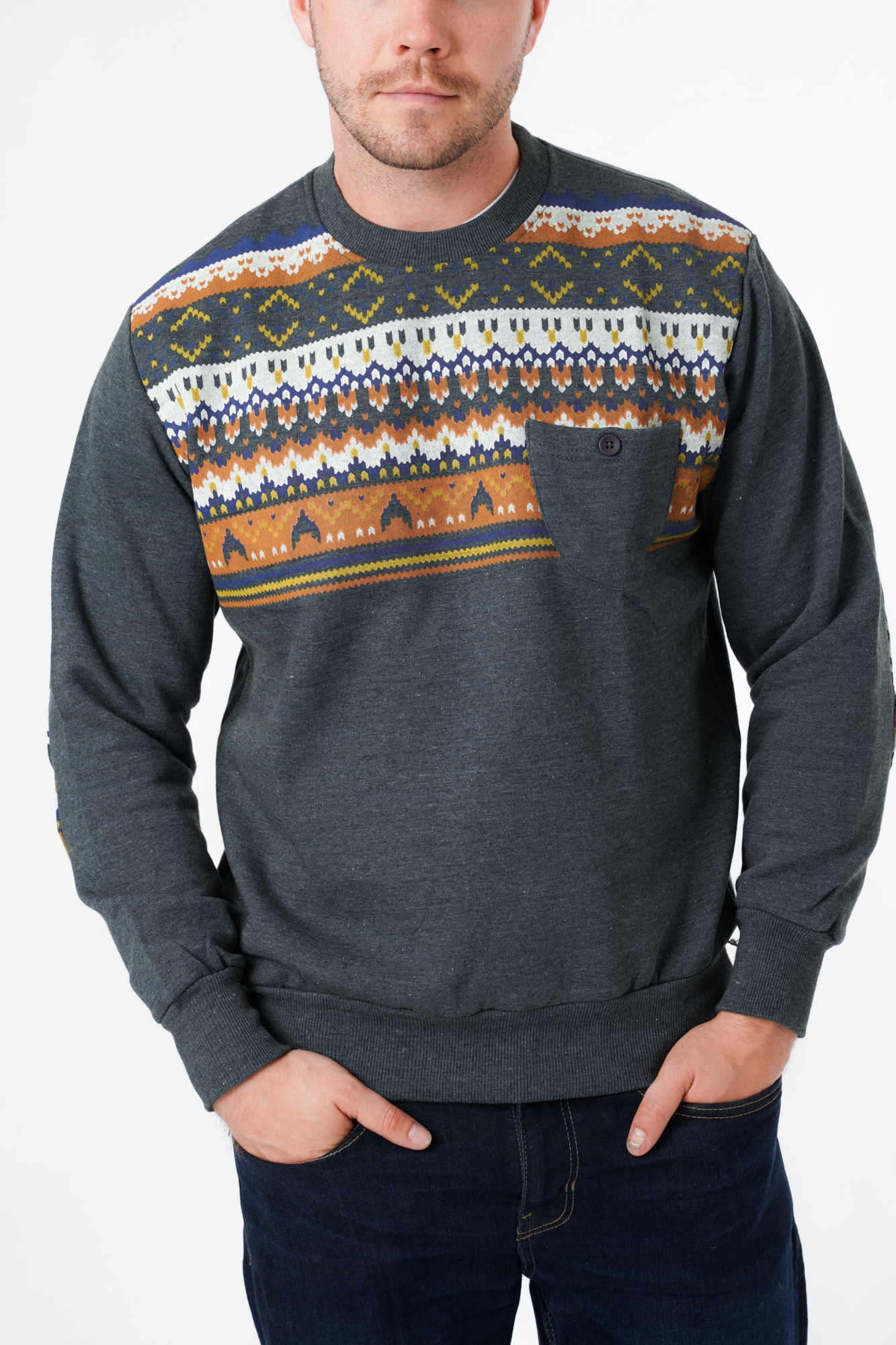 Printed Slim Fit Sweater