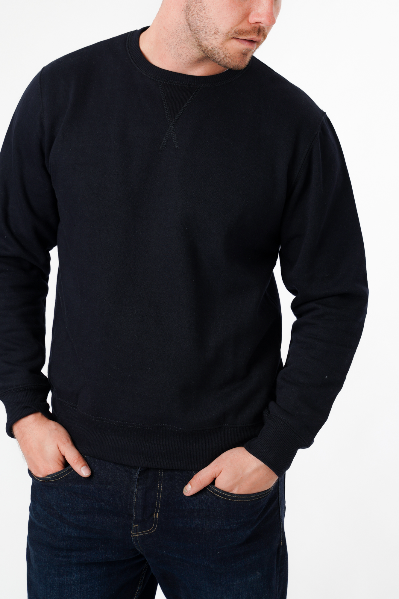Plain Slim Fit Sweater
