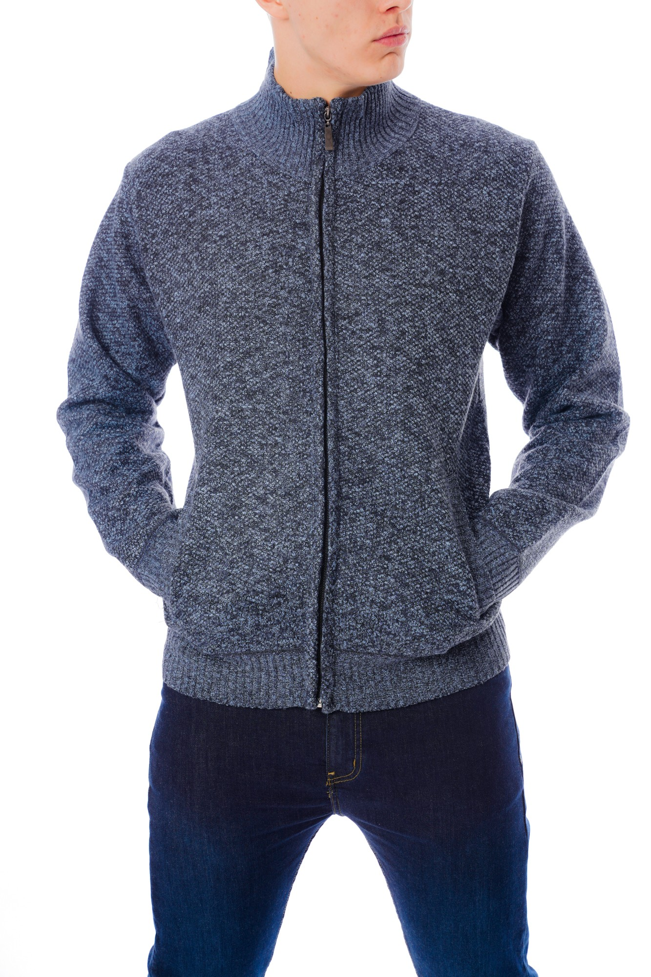 Plain Inside Fleece Cardigan
